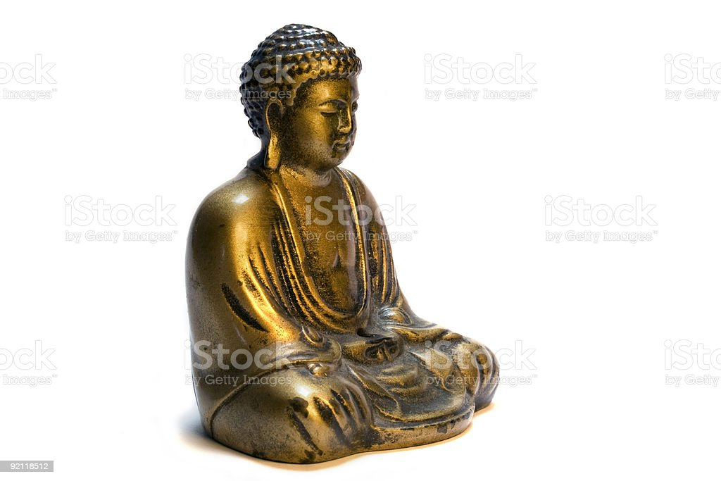 Sitting Buddha Statue stock photo