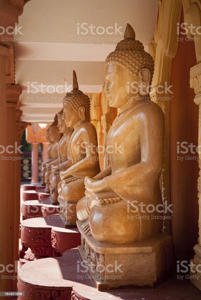 Sitting Buddha statues royalty-free stock photo