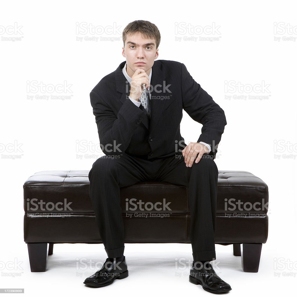 Sitting businessman royalty-free stock photo