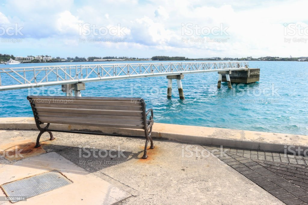 Sitting by the Sea stock photo