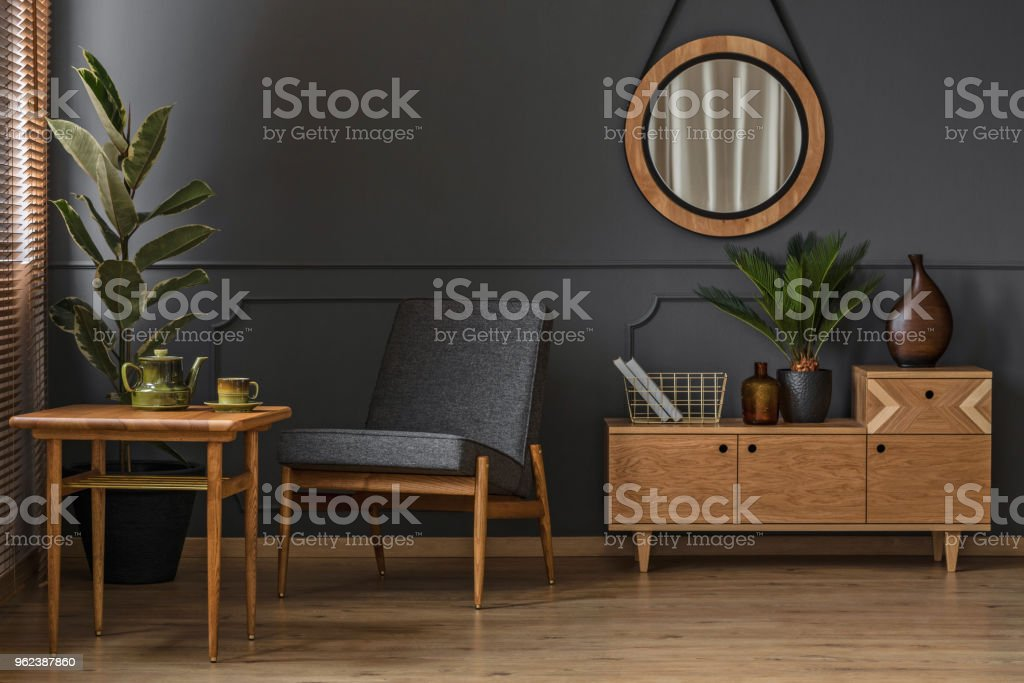 Sitting corner with table stock photo