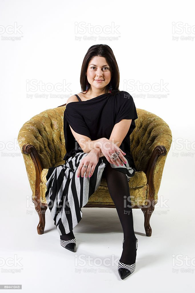 Sitting down royalty-free stock photo