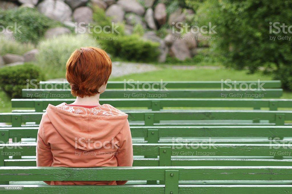 Sitting girl royalty-free stock photo
