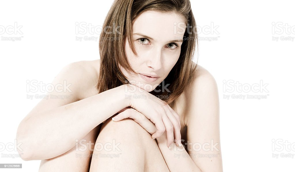 Sitting girl royalty-free stock photo