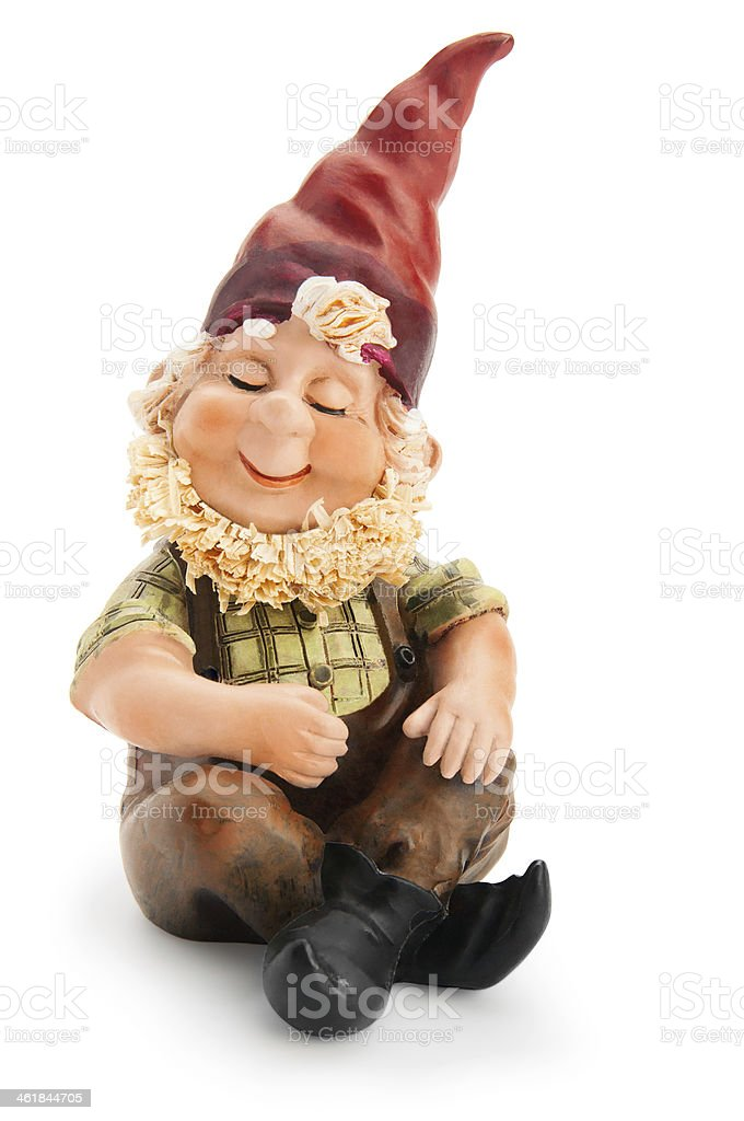 Sitzung Gnome isoliert mit clipping path – Foto