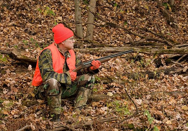 sitting hunter stock photo