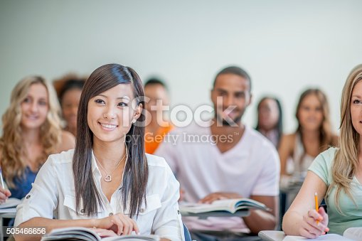 istock Sitting in Class Listening to a Lecture 505466656