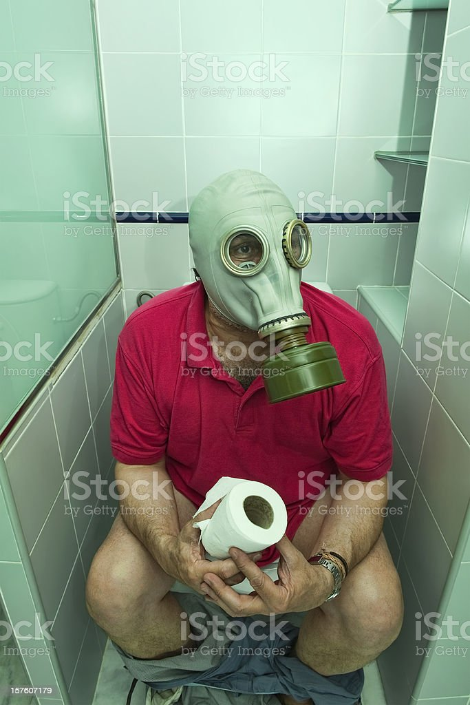 Sitting in the restroom royalty-free stock photo