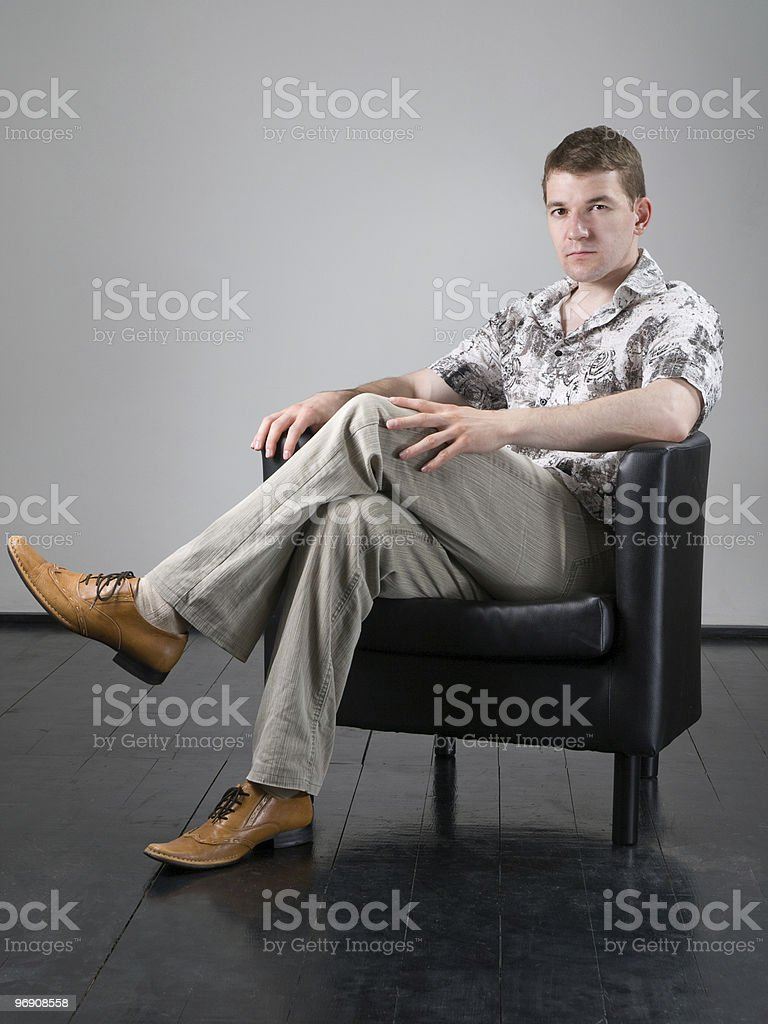 Sitting man royalty-free stock photo