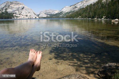 Sitting on the Lake Shore, Tenaya Lake, Yosemite