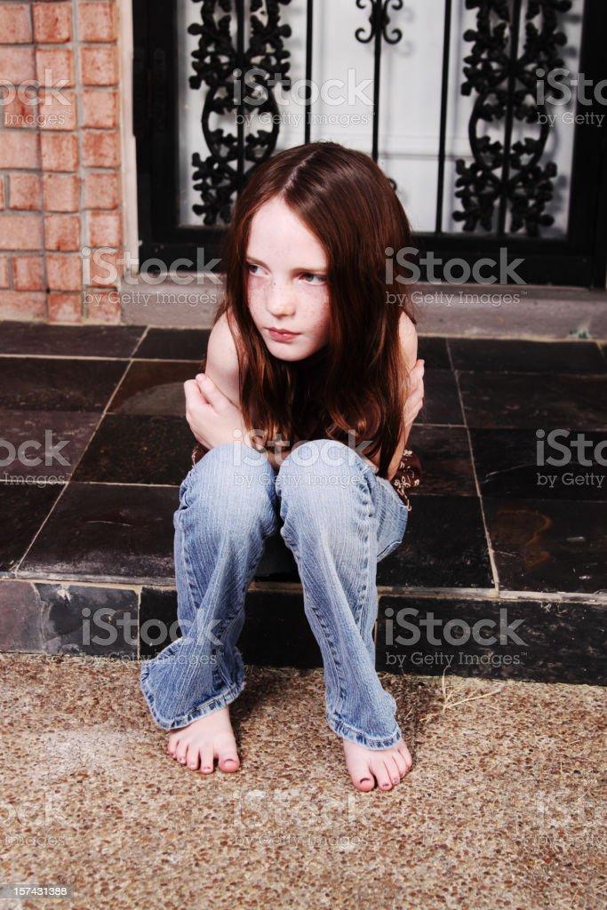 Sentarse en el porche - foto de stock