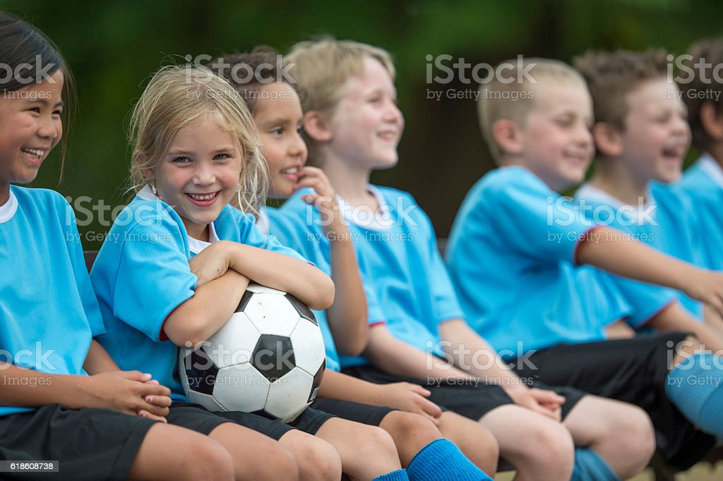 Sitting on the Sidelines stock photo