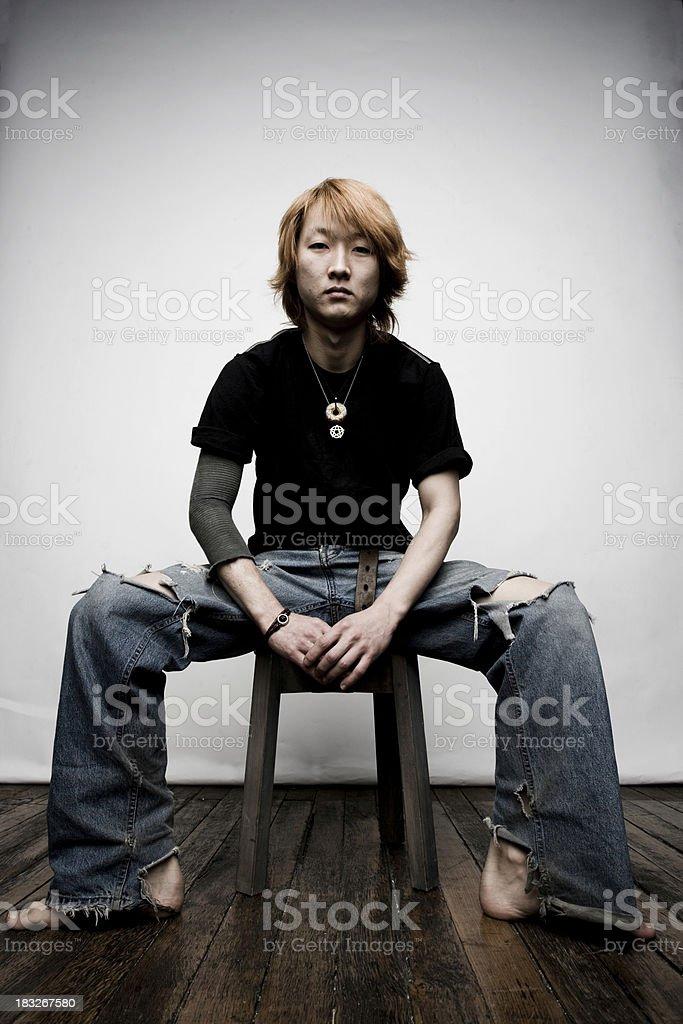 Sitting Portrait royalty-free stock photo