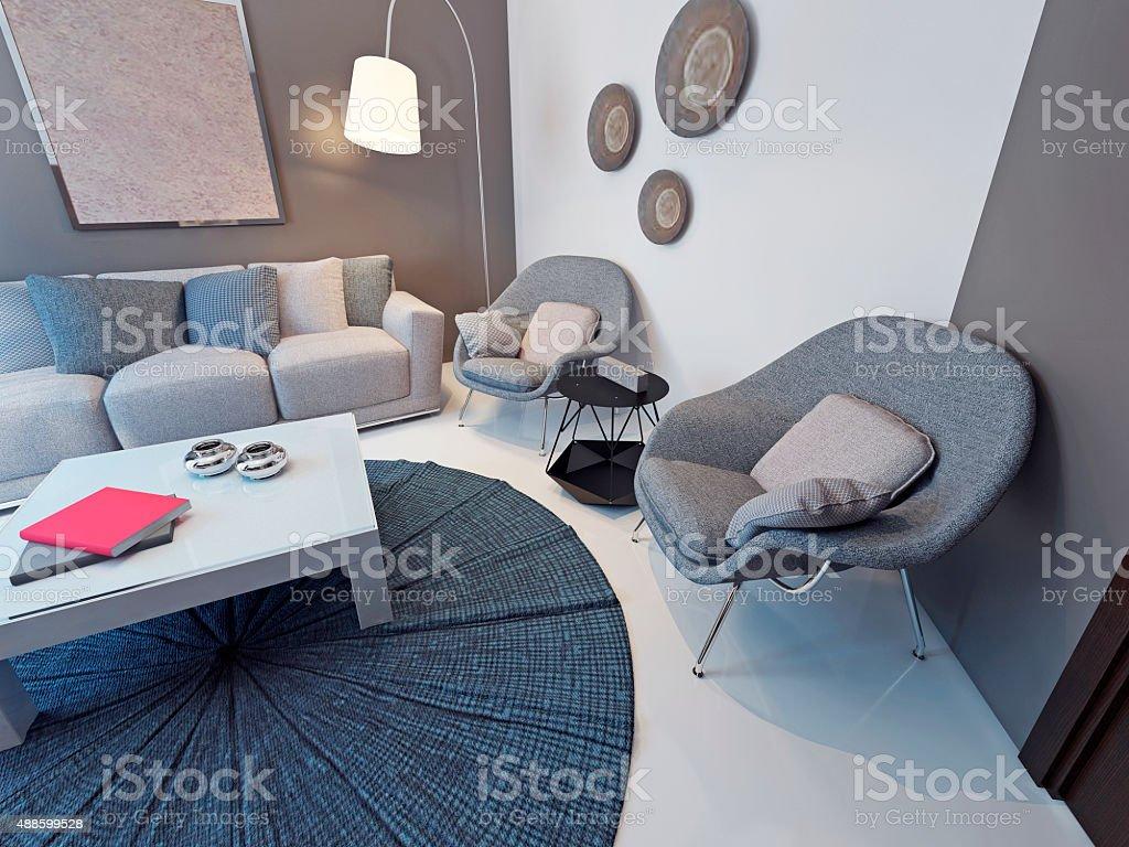 Photo libre de droit de Salon De Style Contemporain banque d\'images ...