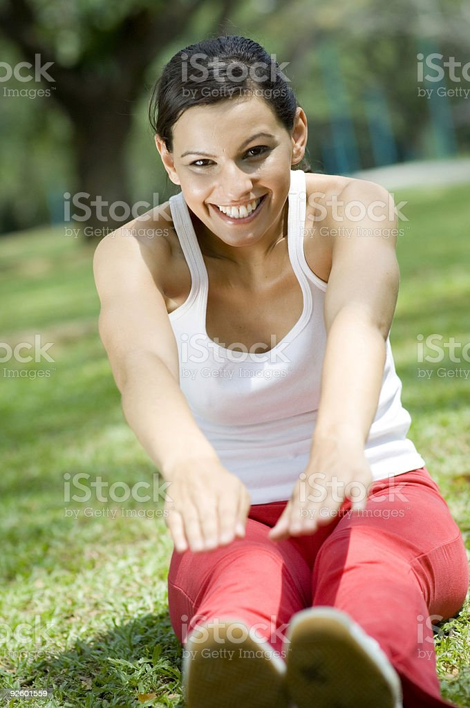 Sitting Stretch royalty-free stock photo