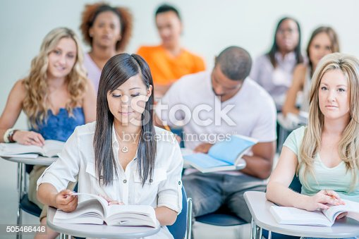 istock Sitting Together Taking Notes in Class 505466446