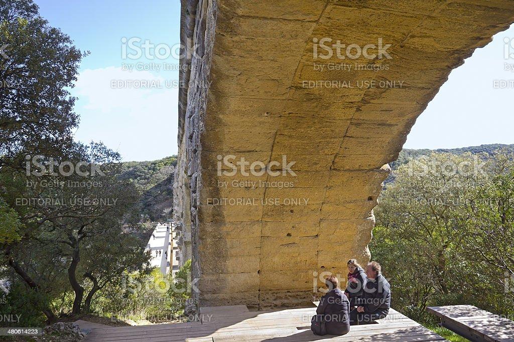 Sitting under the Bridge royalty-free stock photo