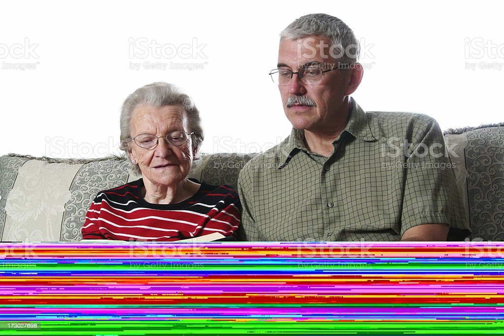 Sitting with Great Grandma royalty-free stock photo