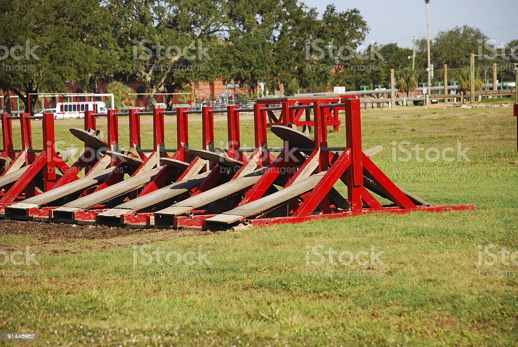 Sit-Up Stations royalty-free stock photo