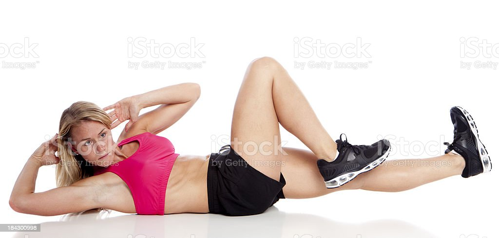 situp woman royalty-free stock photo