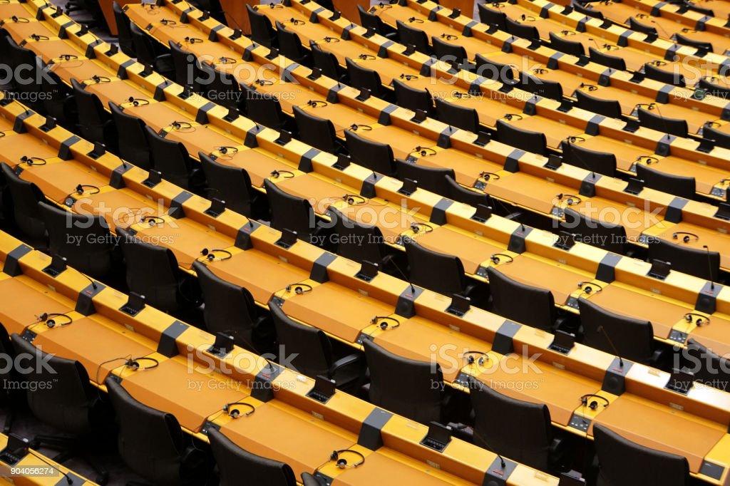 Sitze EU Parlament stock photo