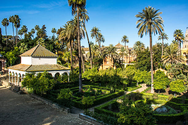 Siviglia, Spagna-i jardines del Real alcázar - foto de stock