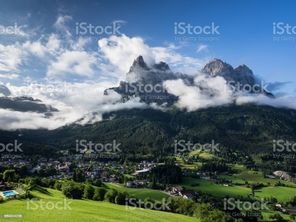 Seis am Schlern stock photo