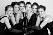 Six beautiful women singing