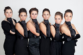 Six beautiful young women