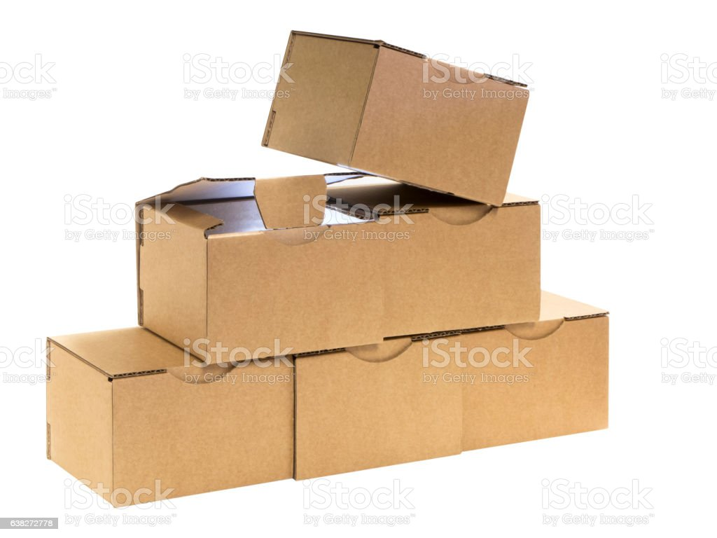 six boxes stock photo