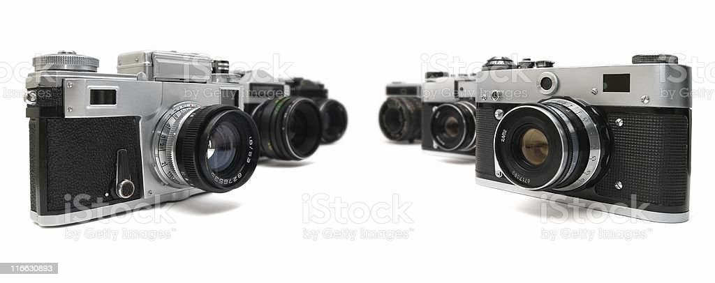 Six Cameras stock photo