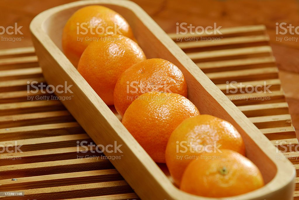 Six Clementines royalty-free stock photo