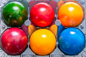 Six colourful Easter Eggs
