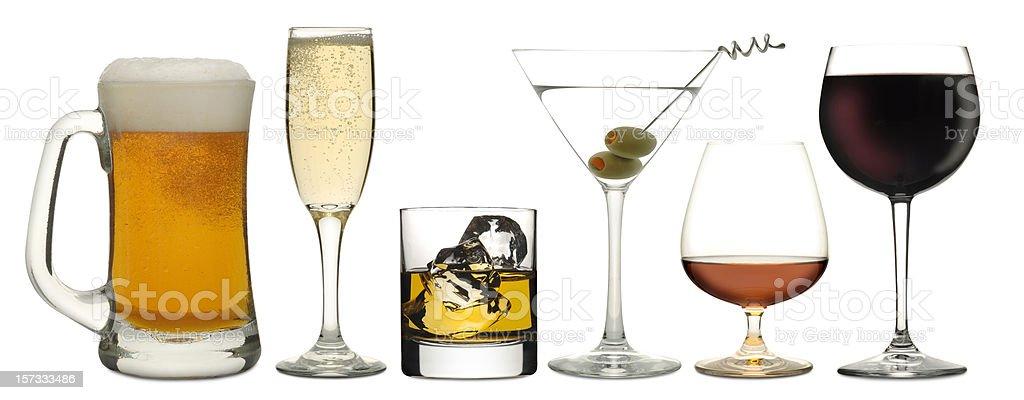 Six Drinks royalty-free stock photo