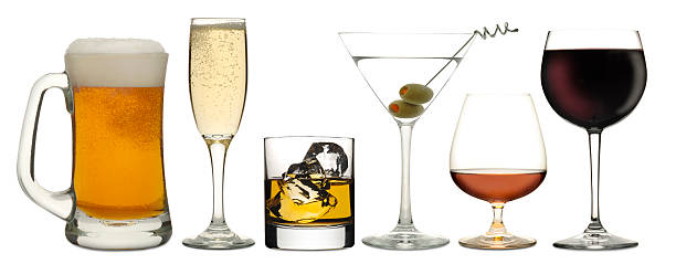 six drinks - beer alcohol stock pictures, royalty-free photos & images