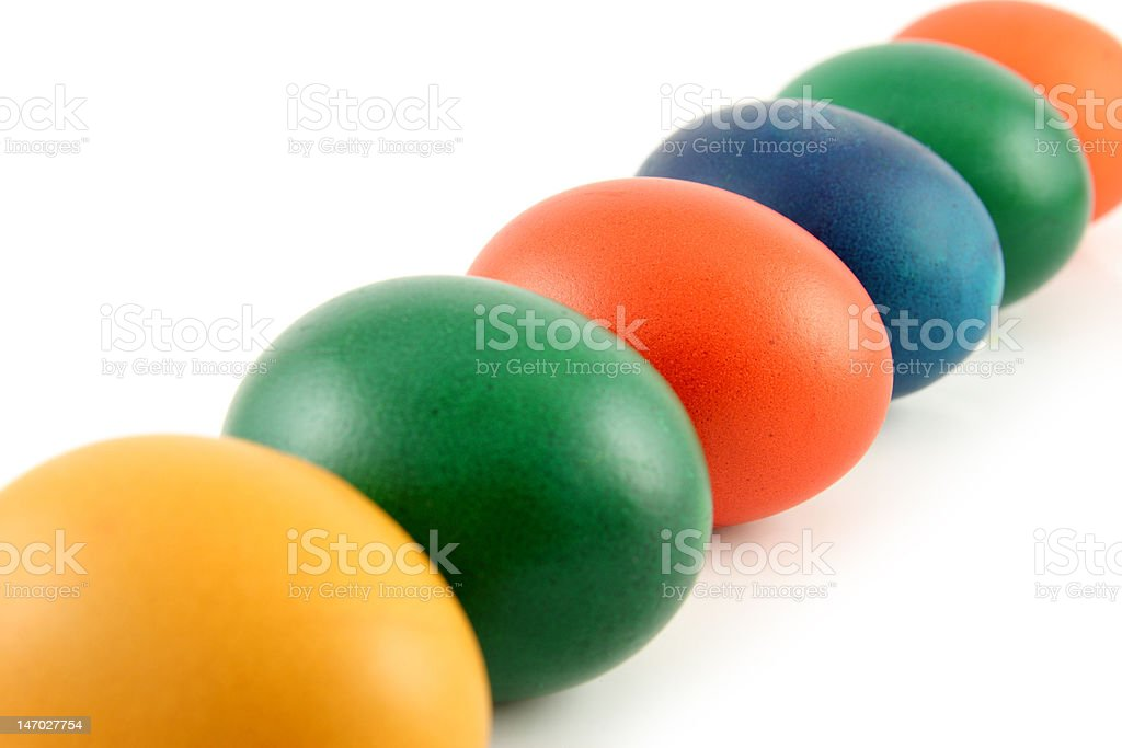 Six Easter Eggs royalty-free stock photo