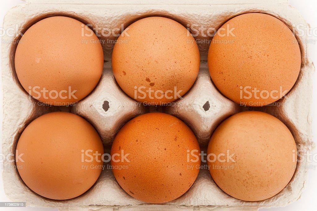Six Eggs stock photo
