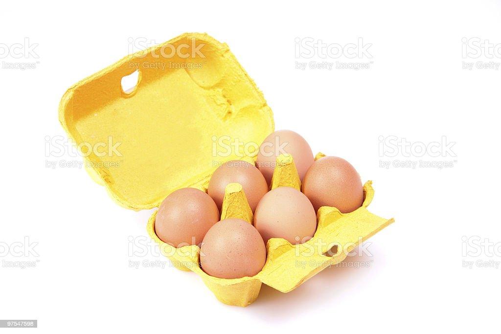 Six eggs. royalty-free stock photo