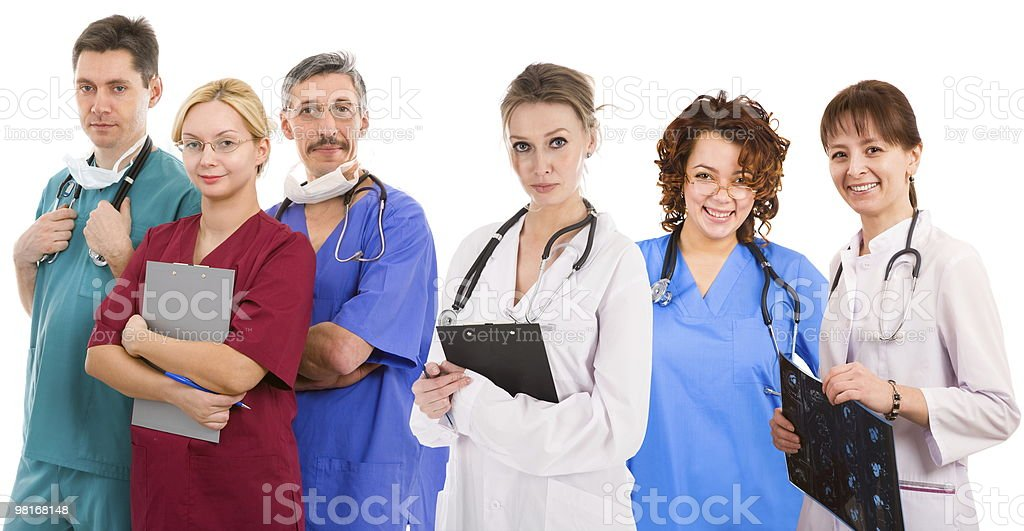 Six female an male doctors royalty-free stock photo
