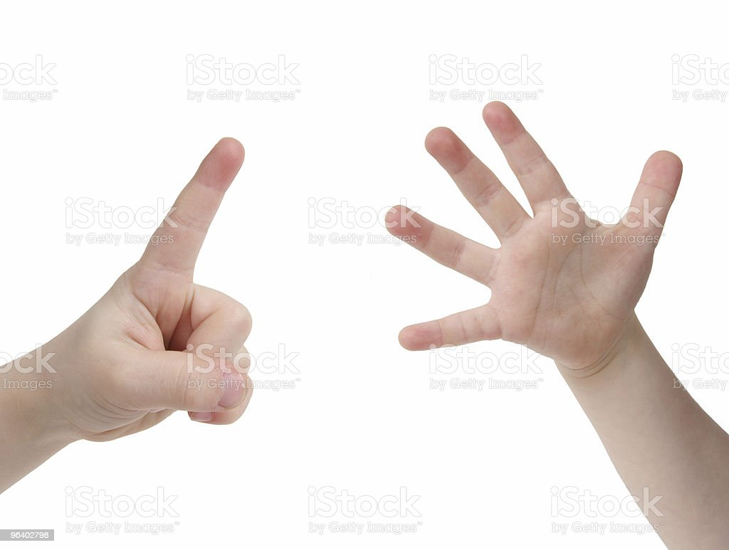 Six Fingers - Royalty-free 6-7 Years Stock Photo