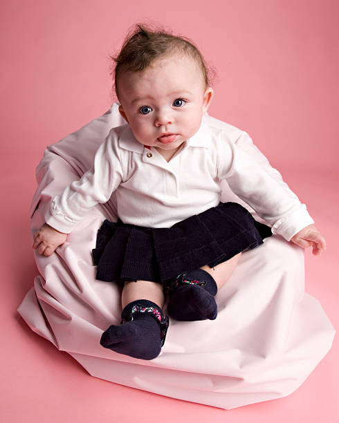 Wondrous Six Month Old Baby In A Beanbag Chair Stock Photo More Pabps2019 Chair Design Images Pabps2019Com