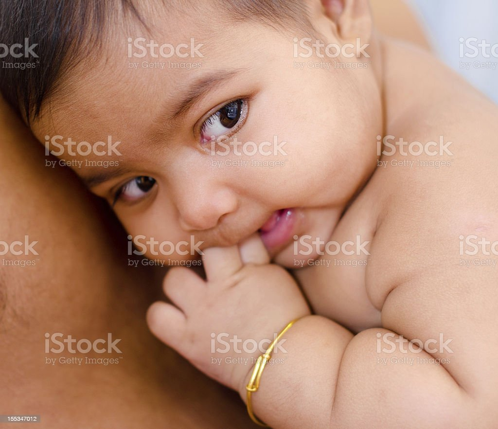 Six Months Old Indian Baby Girl Stock Photo  More -5871