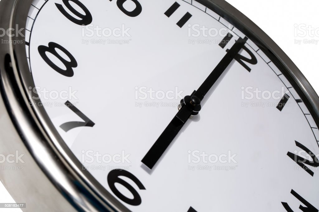 Six o'clock stock photo