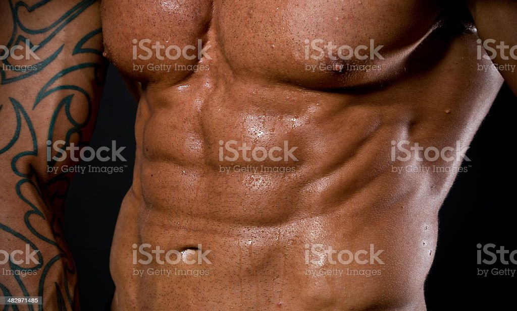 Six pack abs royalty-free stock photo