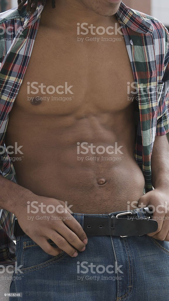 Six Pack Abs stock photo