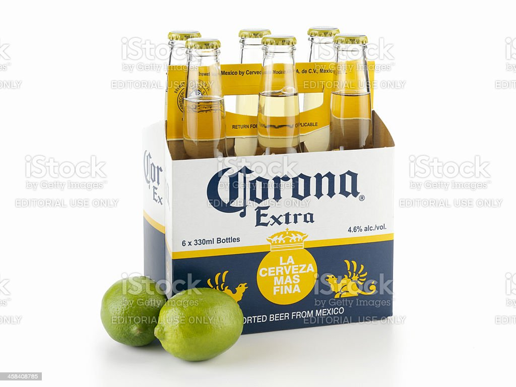 Six Pack Of Corona Beer With Limes Stock Photo Download Image Now Istock