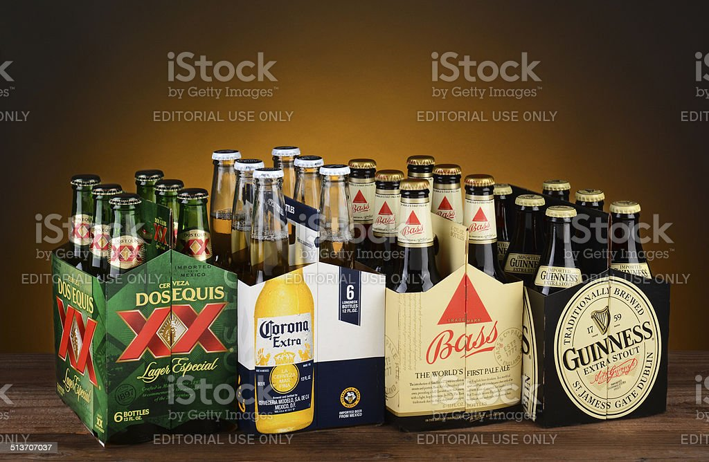 Six Packs of Imported Beer