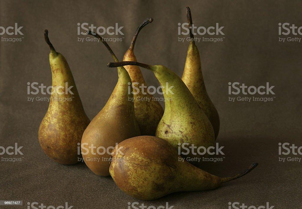 Six pears royalty-free stock photo