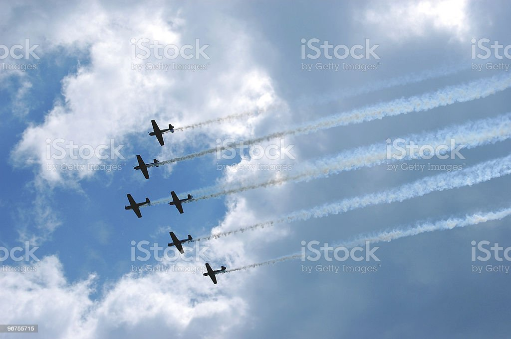 Six Plane Fly-By stock photo