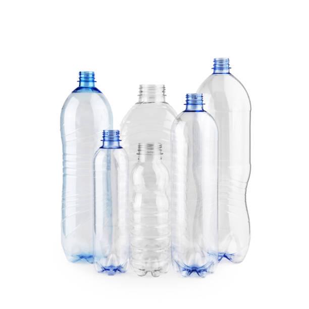 sex polyeten tomma flaskor - pet bottles bildbanksfoton och bilder